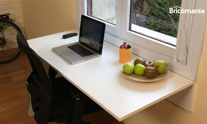 C mo hacer un escritorio abatible bricoman a - Escritorio abatible ...