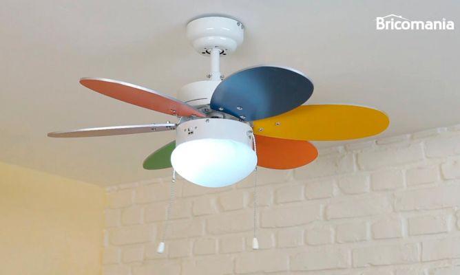Ventilador de techo con luz bricoman a - Ventilador de techo cocina ...