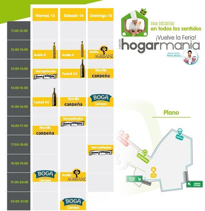 Horarios Catas Feria Hogarmania 2016