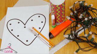 Cómo hacer letras luminosas de cartón - Materiales