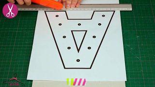 Cómo hacer letras luminosas de cartón - Paso 1