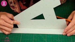 Cómo hacer letras luminosas de cartón - Paso 2