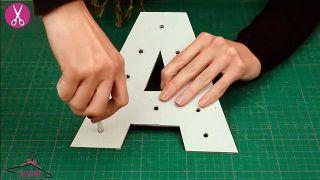 Cómo hacer letras luminosas de cartón - Paso 3