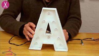Cómo hacer letras luminosas de cartón - Paso 6
