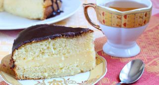 Pastel de crema de Boston (Boston cream pie)