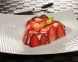 Tarta de cuajada y fresas