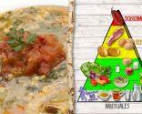 Sopa de verduras y arroz con alegrías riojanas, plato muy nutritivo