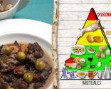 Estofado de carne de cabra, plato nutritivo rico en proteínas