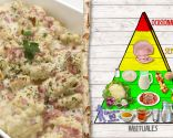 Coliflor con bechamel y jamón, plato saludable y nutritivo