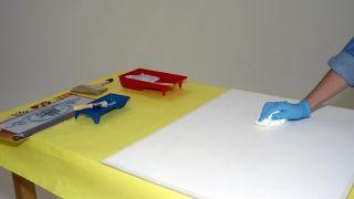 Pintura decorativa con acabado arenoso