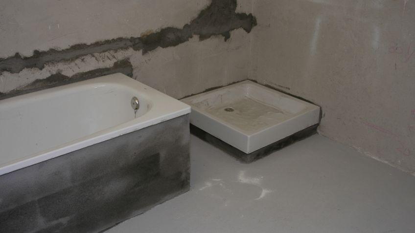 Alicatado del suelo del baño - Bricomanía