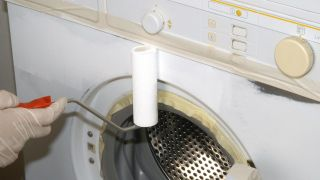 Pintar una lavadora de un color metalizado