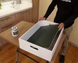 Hacer una pizarra de tiza con una caja de madera