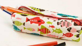 Cómo coser un estuche de tela para lápices