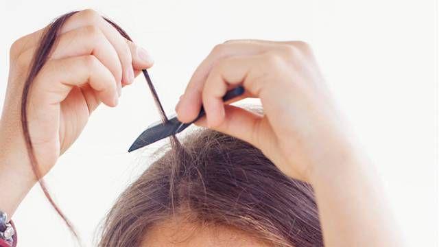 trenzas de hilo en el pelo - paso 1