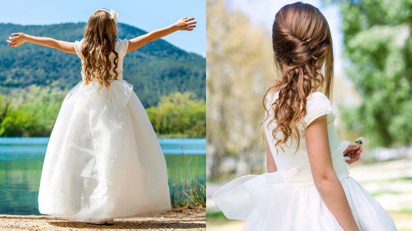 Vestidos Y Peinados De Comunion Para Ninas Hogarmania - Peinados-para-comunion-de-nia