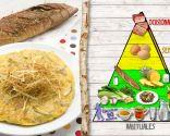 Tortilla de setas y calabacín, plato saludable y nutritivo