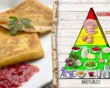 Crepes de jamón y queso, buena fuente de proteínas y antioxidantes