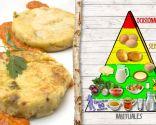 Tortitas de patata y queso, plato nutritivo y energético