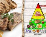 Costillas de cerdo con cebolletas, plato saludable y nutritivo