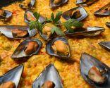 Paella de pescado y marisco