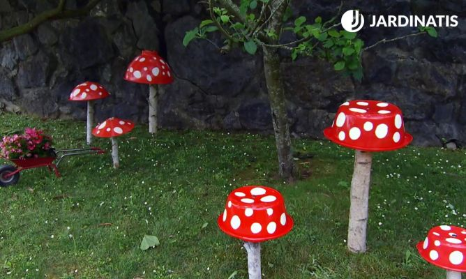Setas decorativas para el jard n bricoman a for Jardin de setas