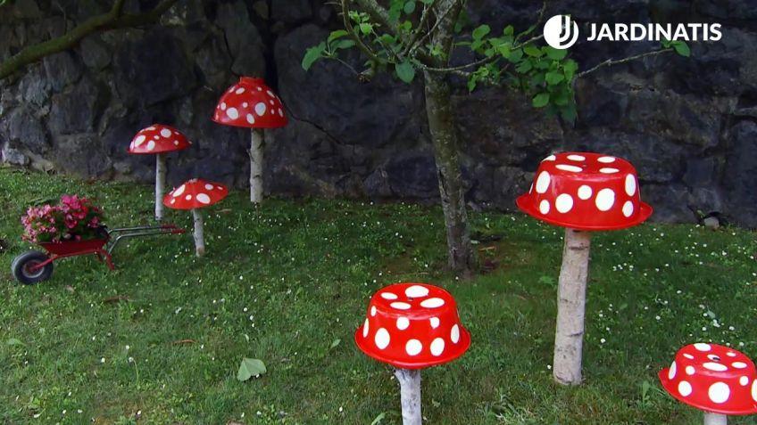 Setas decorativas para el jardín - Bricomanía