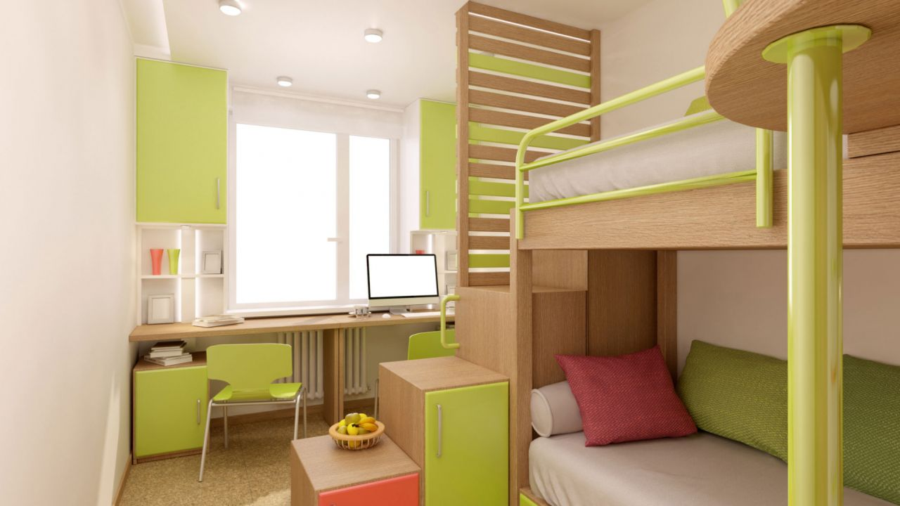 Dormitorio juvenil peque o para compartir distribucion Dormitorio juvenil pequeno
