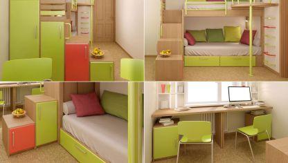 Dormitorio peque o para estudiante decogarden - Decogarden habitacion juvenil ...