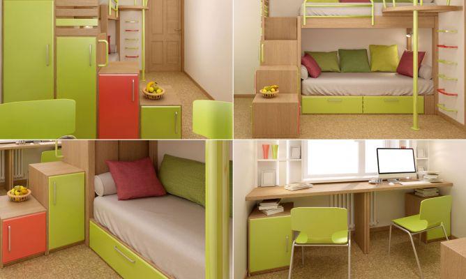 Dormitorio Juvenil Pequeño Para Compartir Hogarmania