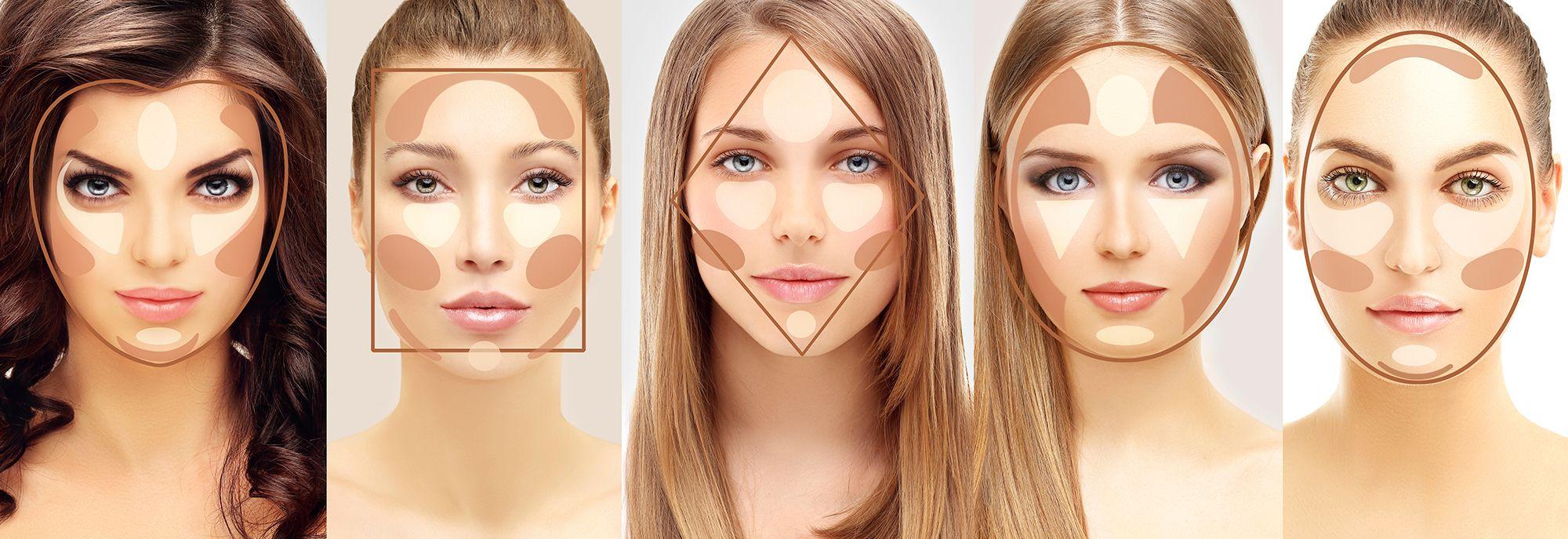 maquillaje contorno según forma rostro