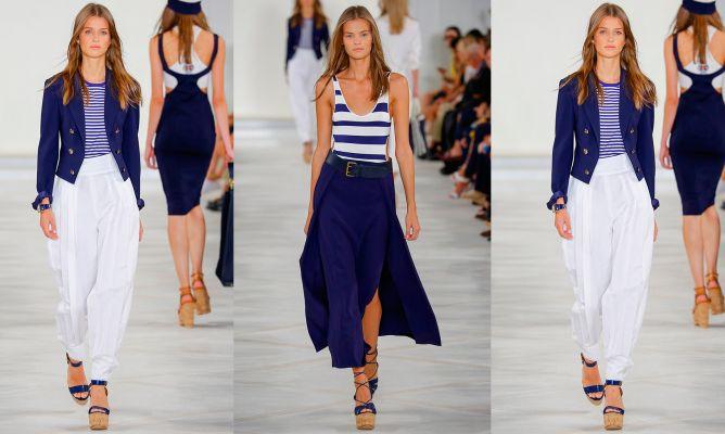 Resultado de imagen para outfit en blanco y azul nautico
