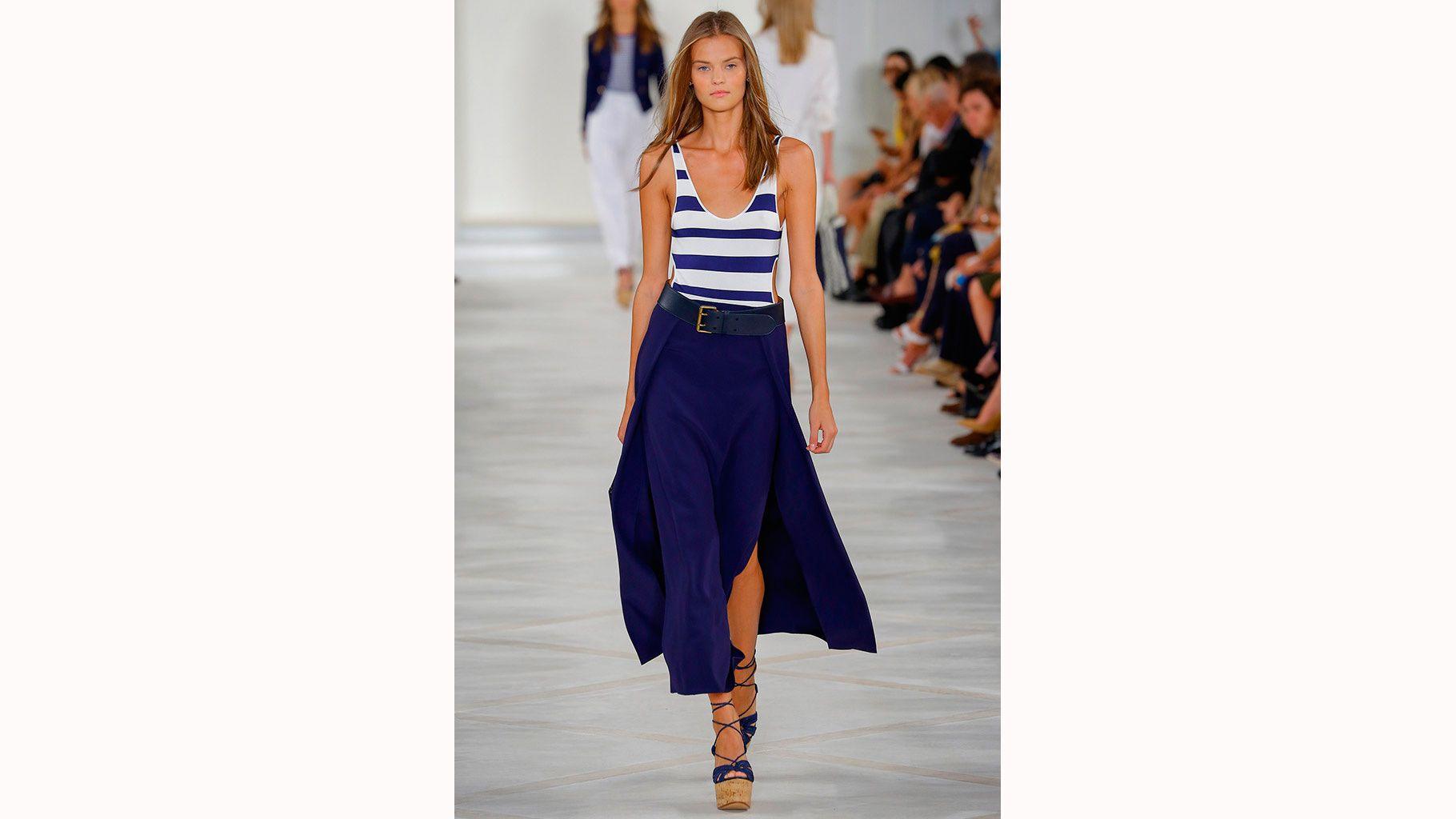 moda marinera - azul y blanco