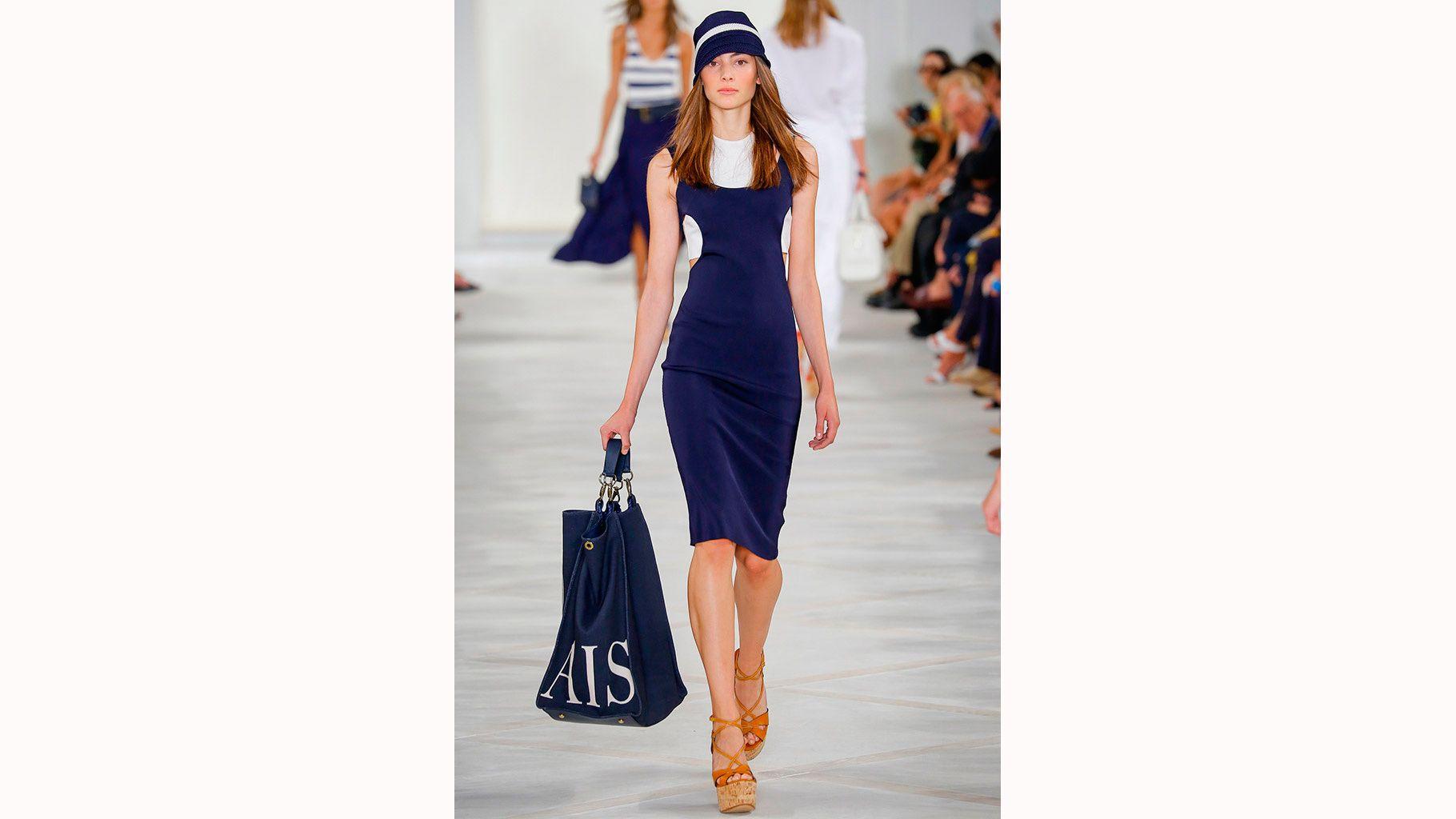 moda marinera - azul y camel
