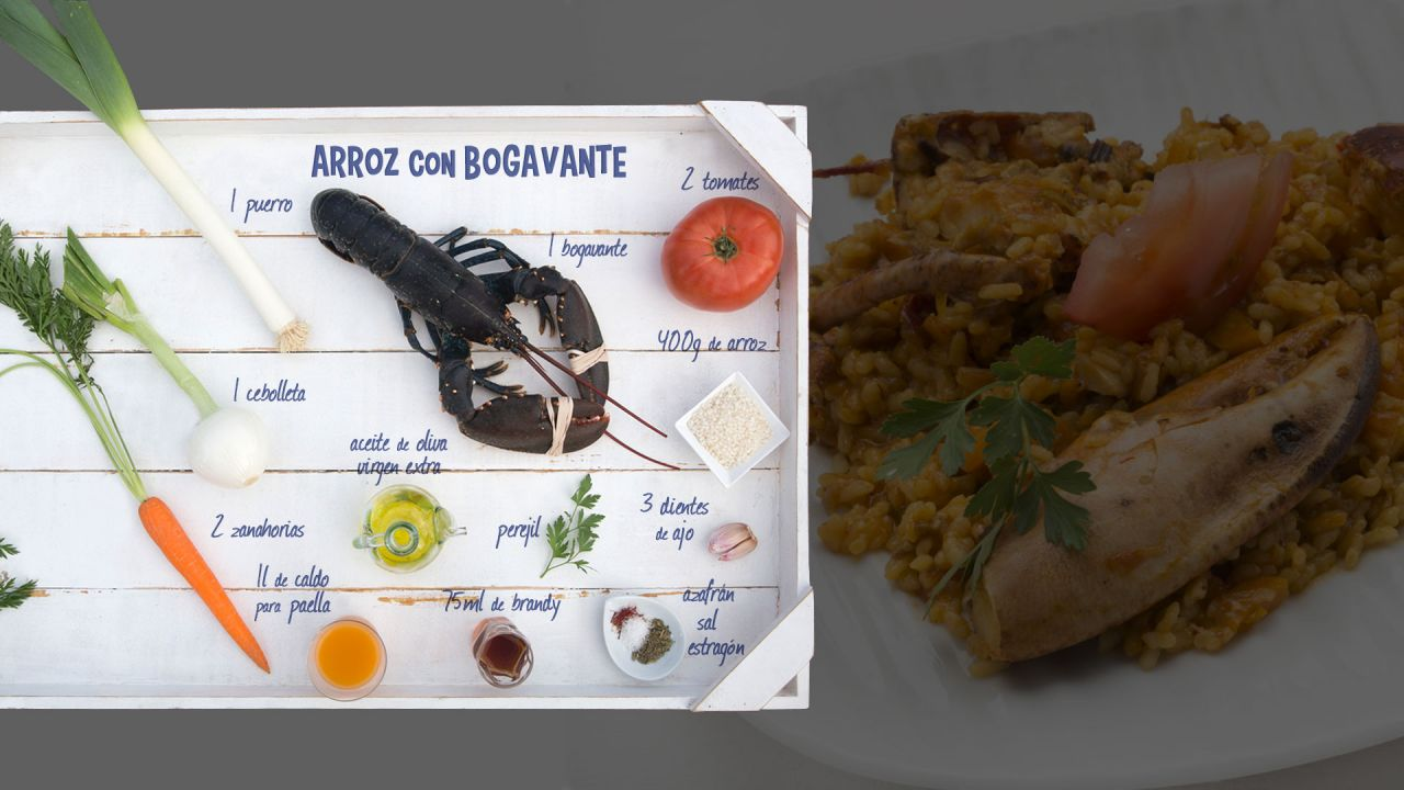 Arroz con bogavante -  Ingredientes