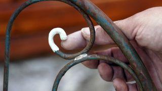 Renovar silla metálica de exterior