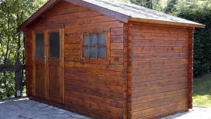 Caseta de madera bricoman a for Casetas jardin segunda mano