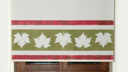 Estarcir sobre tela y pintar con plantillas hogarmania - Hacer estor enrollable ...