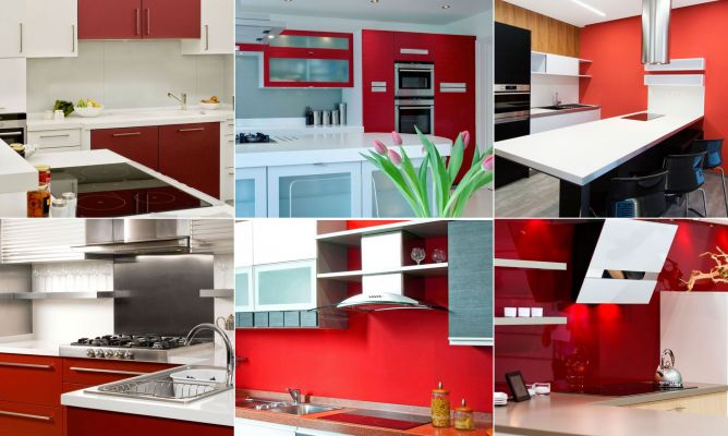 Decoración de cocinas en color rojo