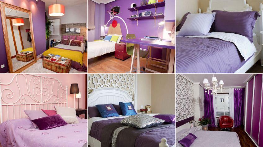 Color morado o lila para dormitorios - Hogarmania