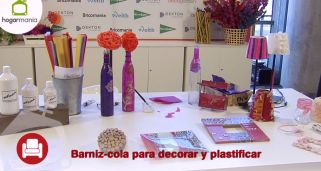 Barniz-cola para decorar y plastificar