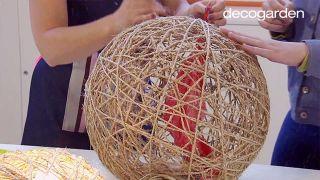 Cómo hacer lámparas con un globo y cuerda - Paso 5