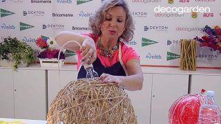 Cómo hacer lámparas con un globo y cuerda - Paso 6