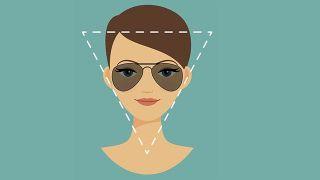 Gafas de sol según tu rostro triángulo invertido