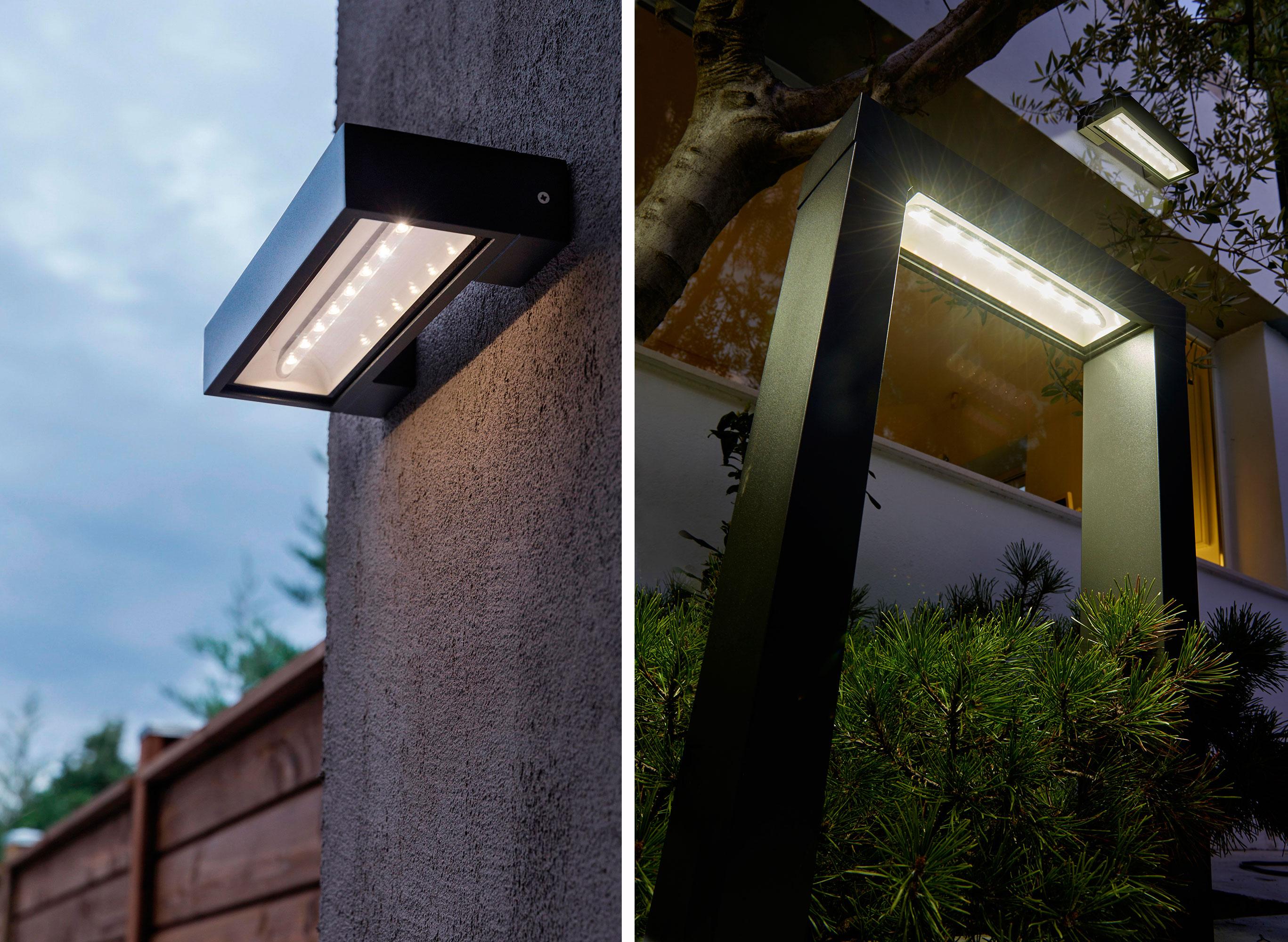 C mo elegir l mparas solares para iluminar el exterior for Lampara solar pared exterior
