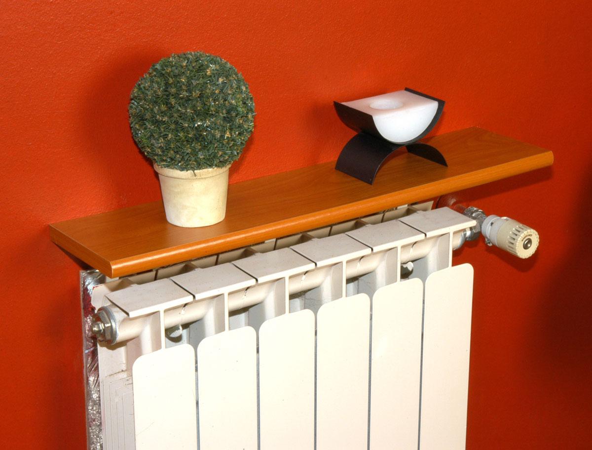 cómo colocar una balda encima del radiador