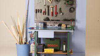 Panel de organización de herramientas