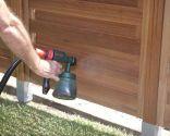Construir una valla para el jardín - Como aplicar el lasur