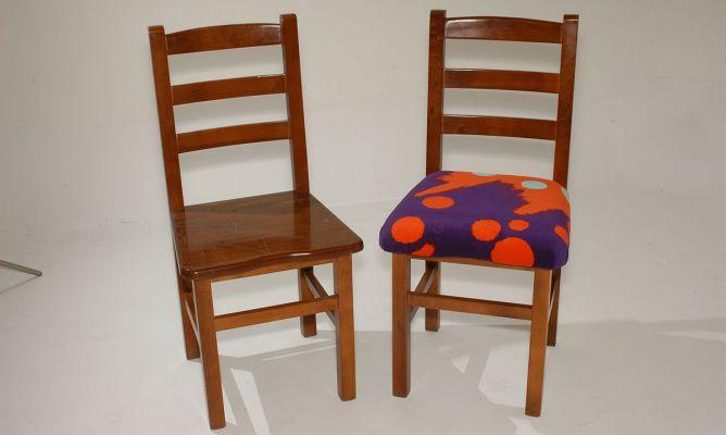 Restaurar y tapizar una silla de madera bricoman a - Como tapizar sillas de madera ...