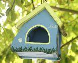 Casitas de pájaros para decorar el jardín